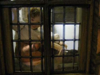 Medieval, Tudor and Jacobean doll's house blog - theinfill - the boy at the window