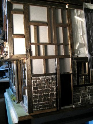 theinfill Medieval, Tudor, Jacobean 1:12 dolls house blog - layering an outer work-beams added for external panels