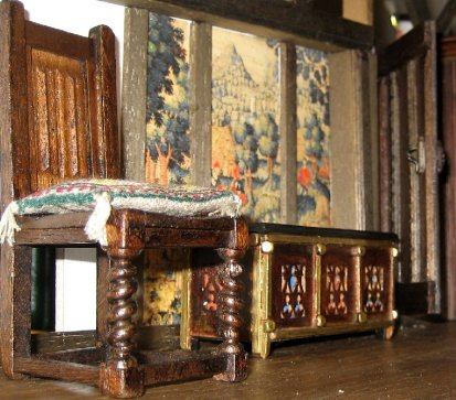 theinfill Medieval, Tudor, Jacobean 1:12 dolls house blog - the infill dolls house blog – Beginnings of the left side of Red bedroom