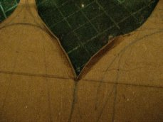 theinfill Medieval, Tudor, Jacobean 1:12 dolls house blog - the infill dolls house blog – cut out 1 mm card for cupola shape try #1 - folds for gluing