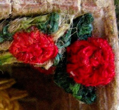 theinfill Medieval, Tudor, Jacobean 1:12 dolls house blog - the infill dolls house blog – emroidery silks on hessian backing for roses