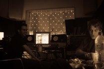 Bryan and Alexei in the studio at 123 Studios in November 2012