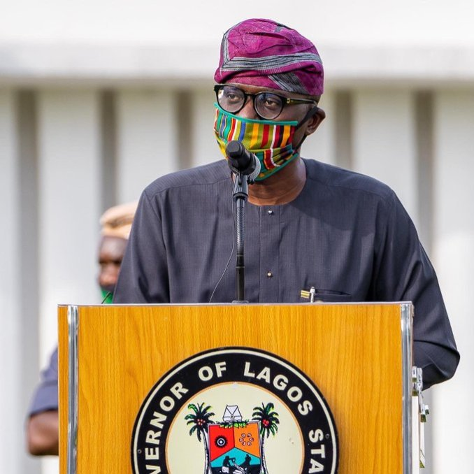 Moments Gov. Babajide Sanwo-Olu rocked locally made facemasks (Photos) 4