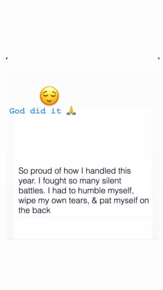 I fought so many silent battles that made me cry this year- Davido's fiance, Chioma testifies (Photo)
