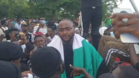 "#EndSARS: ""It is far from over"" - Davido says as joins protesters in Abuja (Photos)"