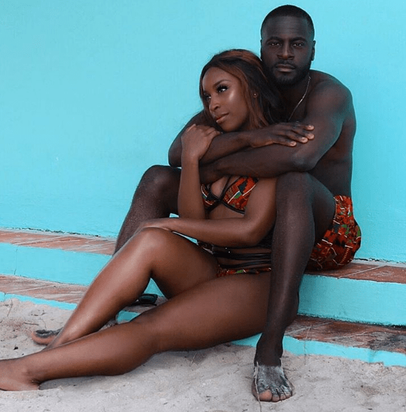 jackie aina and boyfriend, denis asamoah in redstar collection