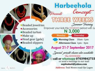 Summer Training Program - Bead Making and Makeup Course, Nigeria