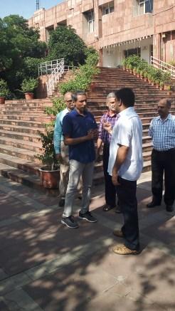 Vice Chancellor Prof Mamidala with NSS co-ordinator Mr Anil Kumar Singh.