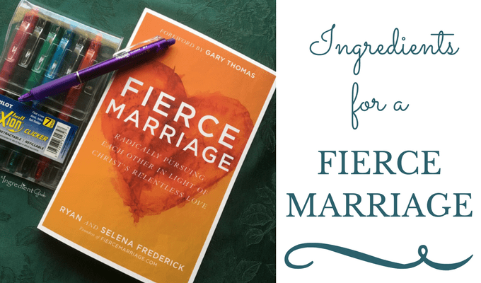 Ingredients for a FIERCE MARRIAGE | Book Review