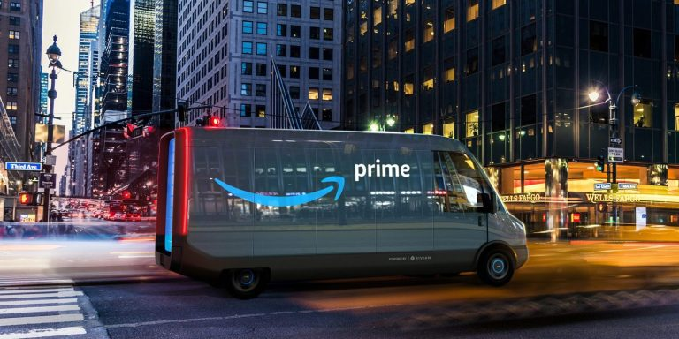 AMAZON Unveils New Rivian ELECTRIC Delivery Van Model-can Travel 241km On One Single Charge