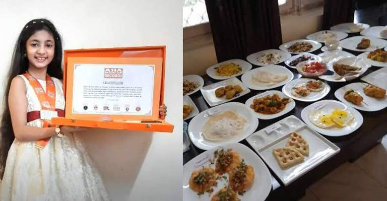 10 Year old girl from Kerala cooks 30 dishes in 1 Hour, Makes into Record Books