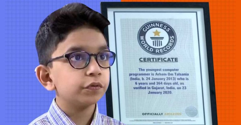 6 year-old-boy from Ahmedabad enters Guinness World Record as youngest computer programmer