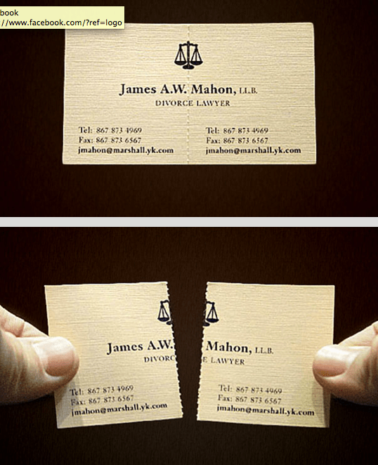 Divorce Lawyer Business Card