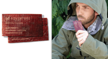 Survival Training Dried Meat Business Card