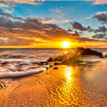Hawaii, sunset by alierturk
