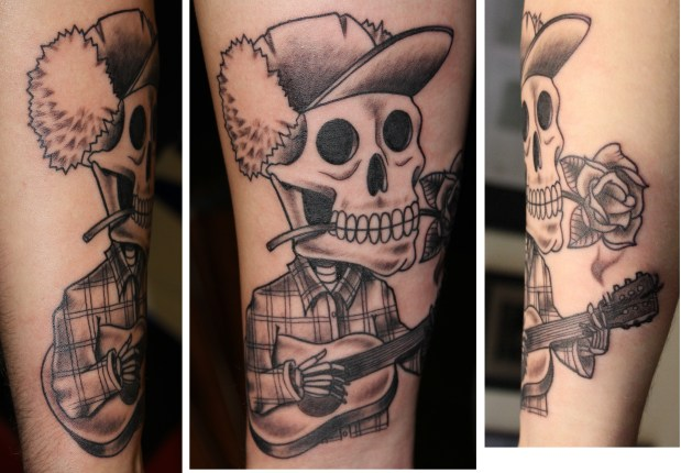 Skeleton Romantic -Tattoo by Delan Canclini