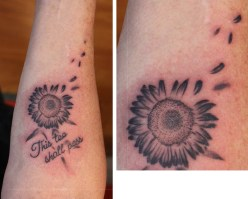 tiny sunflower tattoo