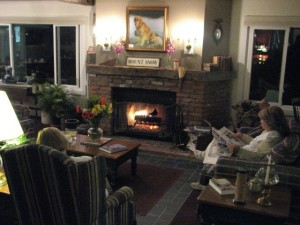 Cozy Fireplace Mount Snow