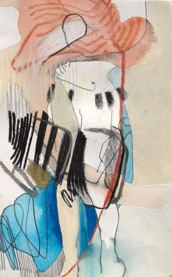 Drawn Kindly, I - mixed media on paper - 8x5 inches -2013