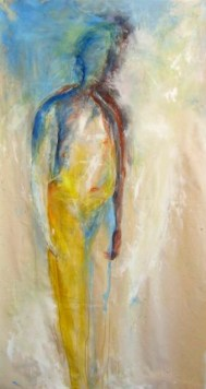 Standing Man - acrylic and pastel on canvas - 72x44 inches - 2011