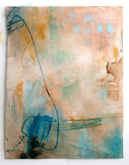 (Not for Sale) Deconstruction - mixed media on vellum - 42x32 inches - 2011