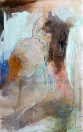 (SOLD) Out of Reach - mixed media on vellum - 67x42 inches - 2012