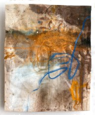(SOLD) Remnant Blue - mixed media on canvas - 14x11 inches - 2011