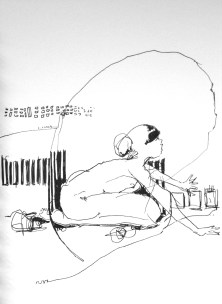 (SOLD) When Lament Seems to Echo - ink on paper - 8x6 inches - 2012
