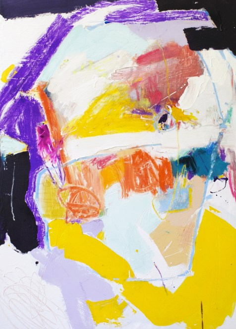 (SOLD) The Life of Things - mixed media on canvas - 39x28 inches - 2014