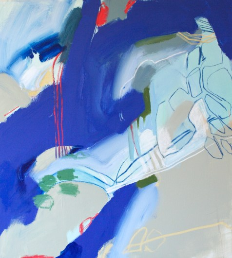(SOLD) Rest (The Paradox of Rest and Run) - mixed media on canvas - 42x38 inches - 2014