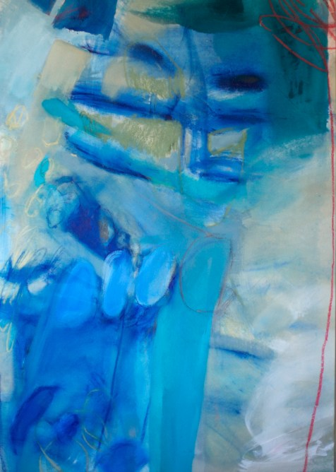 This I Have (The Body) - mixed media on unprimed canvas - 62x44 inches - 2014