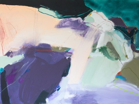 (SOLD) Even Mountains Can Move - mixed media on canvas - 36x48 inches - 2014