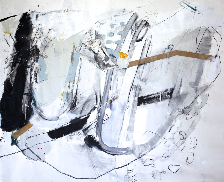 Purpose Re-Collection - mixed media on paper - 69x84 inches - 2015