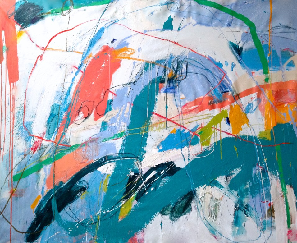 (SOLD) Joan of Arches - mixed media on canvas - 58x72 inches - 2015