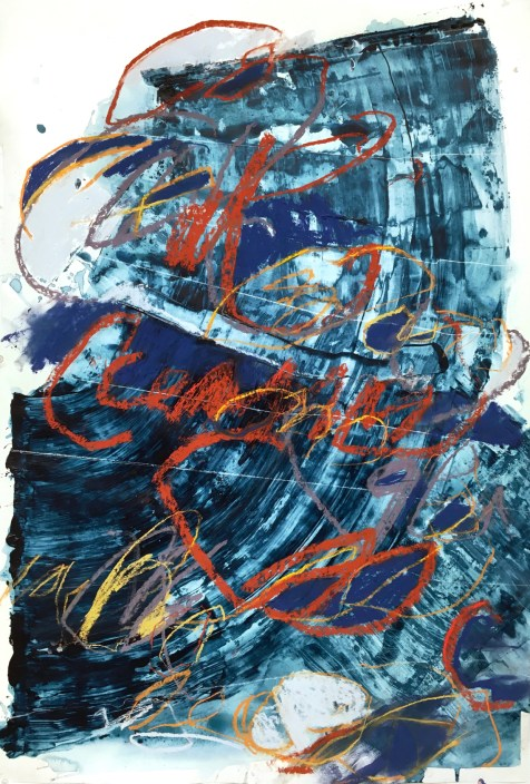 Mark Amass, II - acrylic and pastel on paper - 42x28 inches - 2017