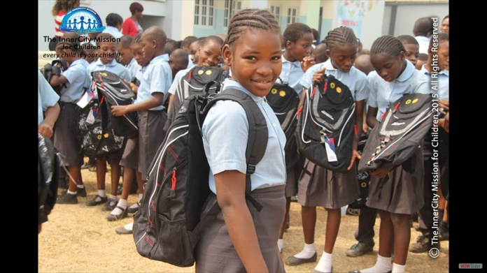 Image result for nigerian pupil carrying school bag