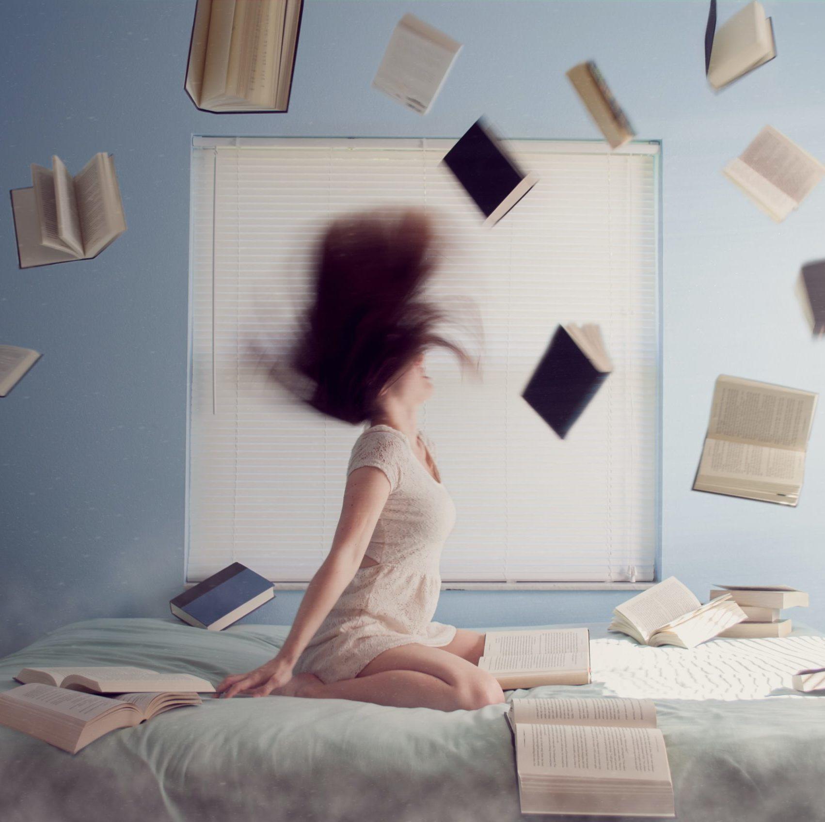 sadness anger books girl