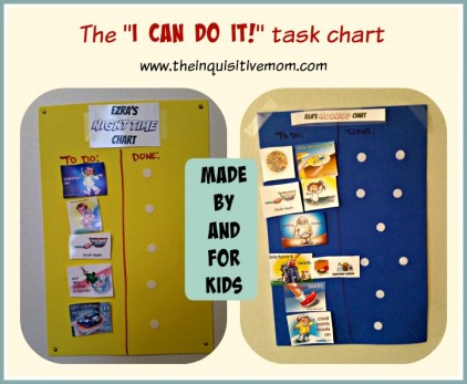 The I Can Do It Task Chart Made By Kids