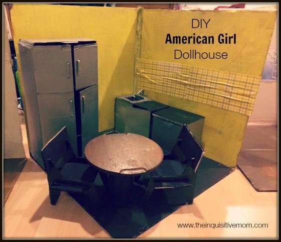 American Girl Doll Living Room Furniture: DIY American Girl Dollhouse