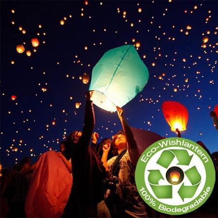 15 Safe Alternatives to Fireworks. Try an Eco-Wish Lantern.