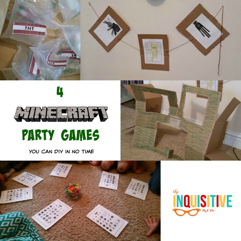 4 minecraft party games