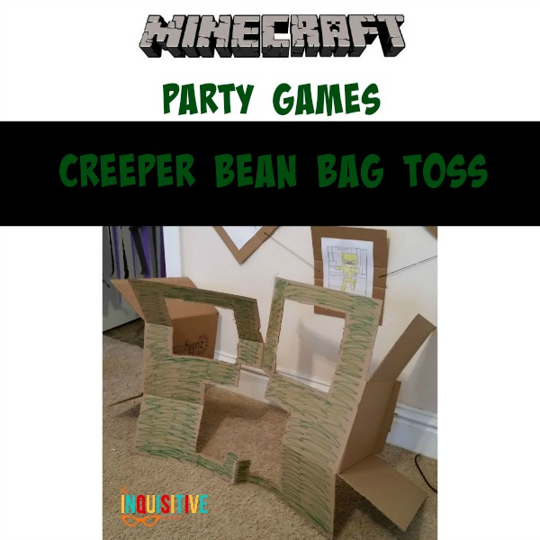 Minecraft Party Games. Creeper Bean Bag Toss.