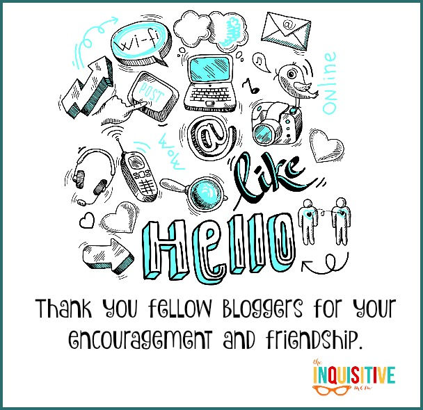 Thank you fellow bloggers.