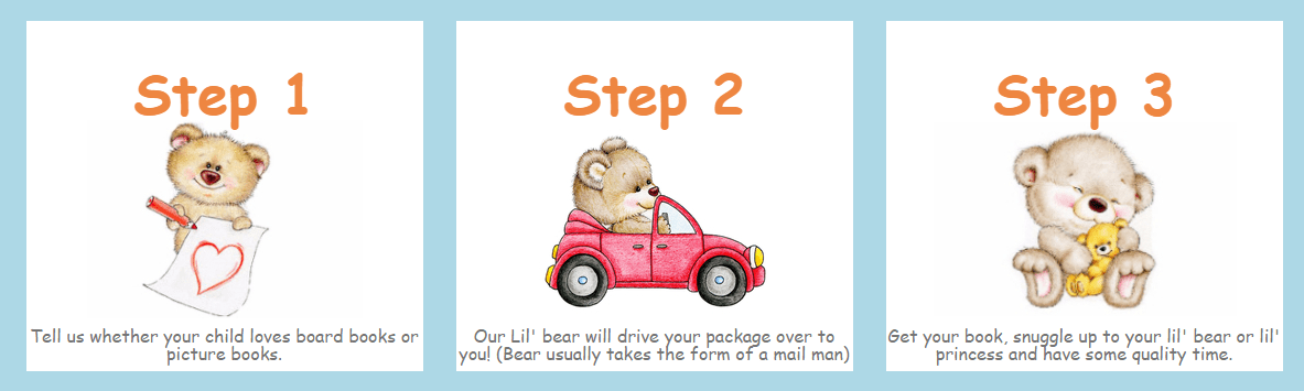 How it Works Lil' Bear Book Club for Kids