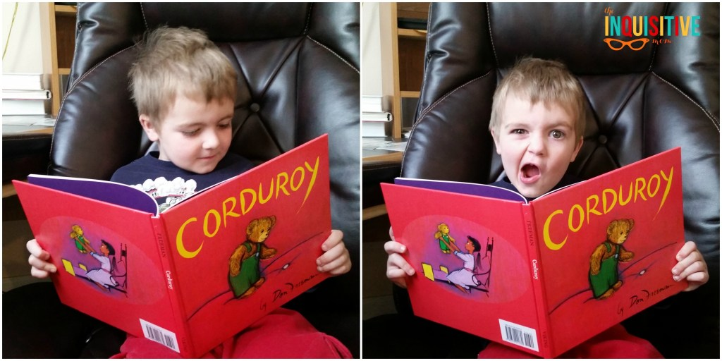 Lil' Bear Book Club for Kids Review. Reading Corduroy
