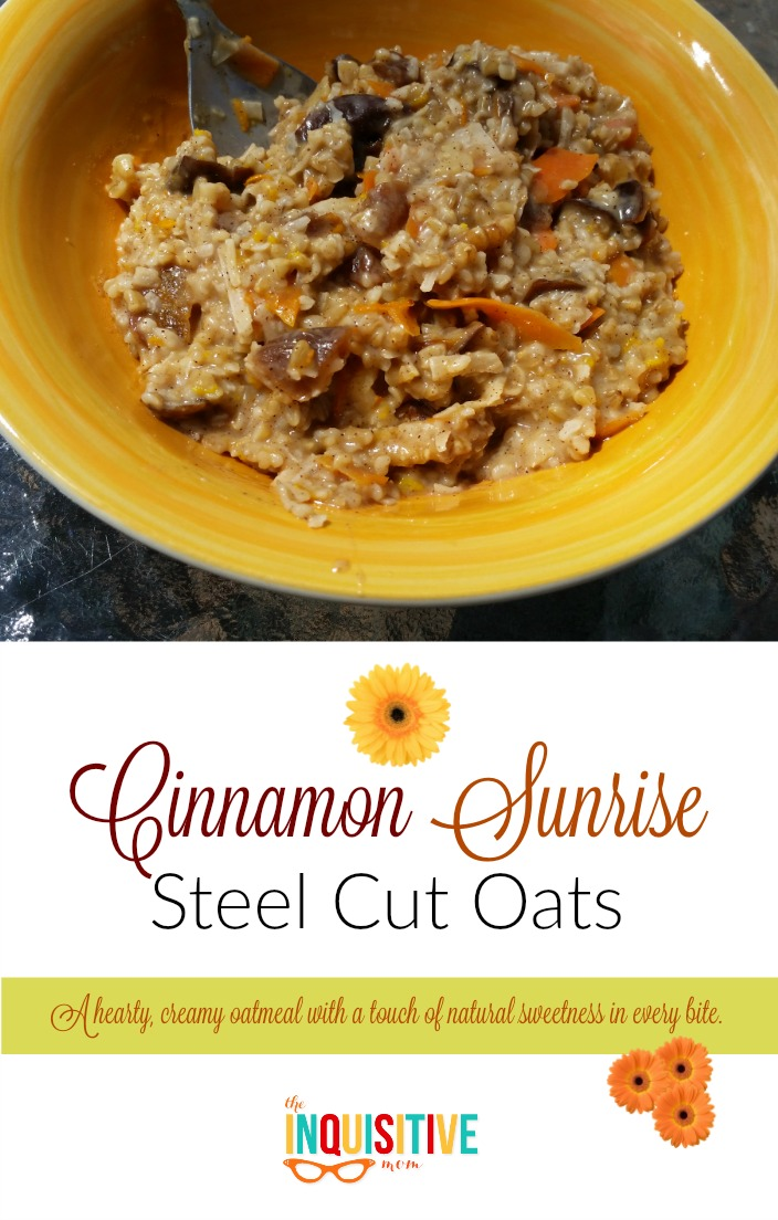 Cinnamon Sunrise Steel Cut Oats Recipe
