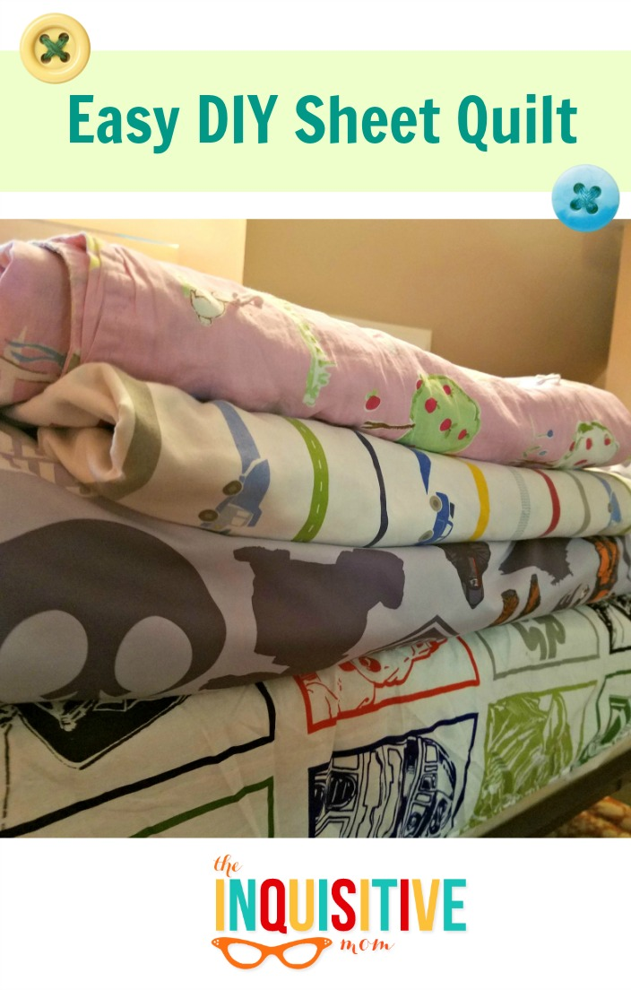 Easy DIY Sheet Quilt - The Inquisitive Mom