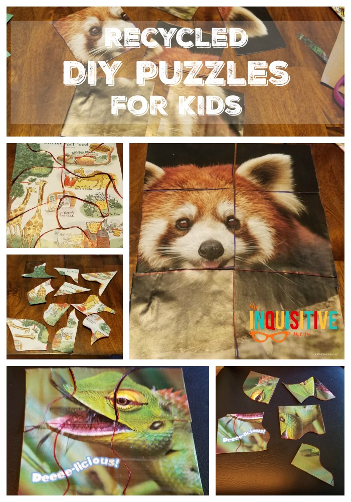 How to Make Recyled Recycled DIY Puzzles for Kids