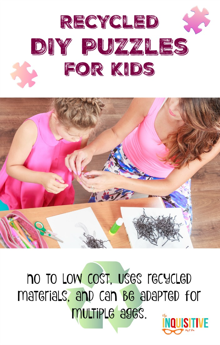 Recycled DIY Puzzles for Kids