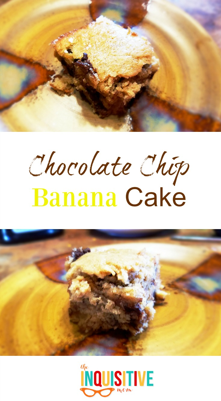 Chocolate Chip Banana Cake Recipe from The Inquisitive Mom
